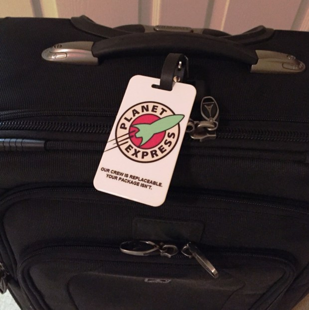 Planet Express luggage tag