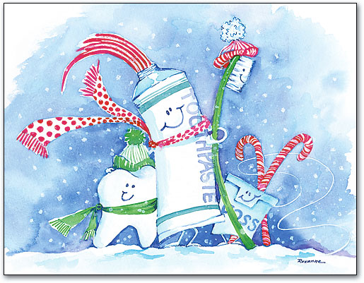 Dental Holiday Christmas Amp Winter Themed Laser Cards Benco