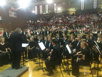 John Miller and AFHS Wind Symphony