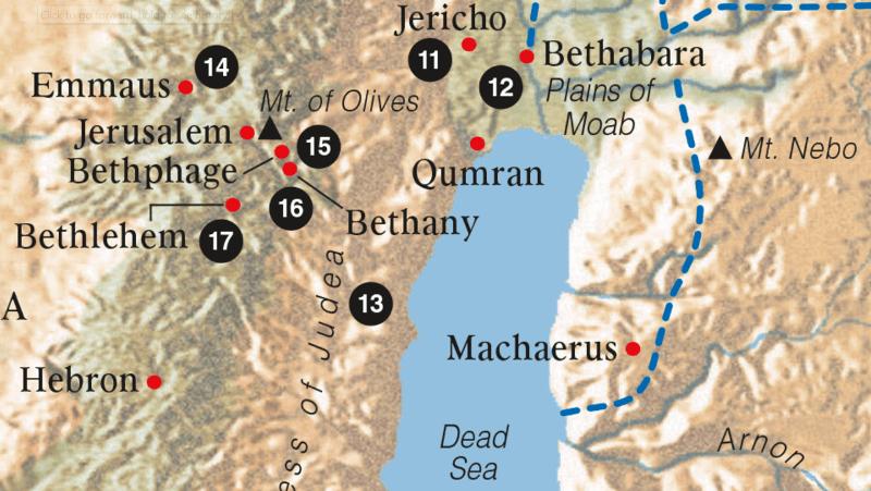 Map - Bethabara