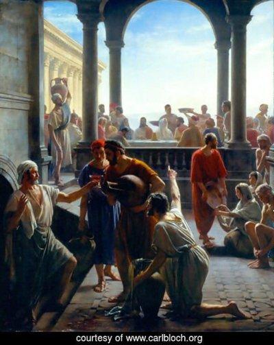 Carl Bloch - Jesus Turning Water to Wine