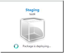 Package Is Deploying