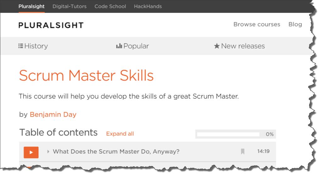 Scrum Master Skills @ Pluralsight