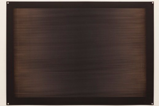 Laser line phase wave form no. 1, 2015, 100x70cm, 445nm laser on paper