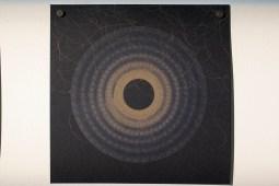 Evolution and ecology: spiral set no. 5 (part 4), 2016, 20x20cm 445nm laser on paper.