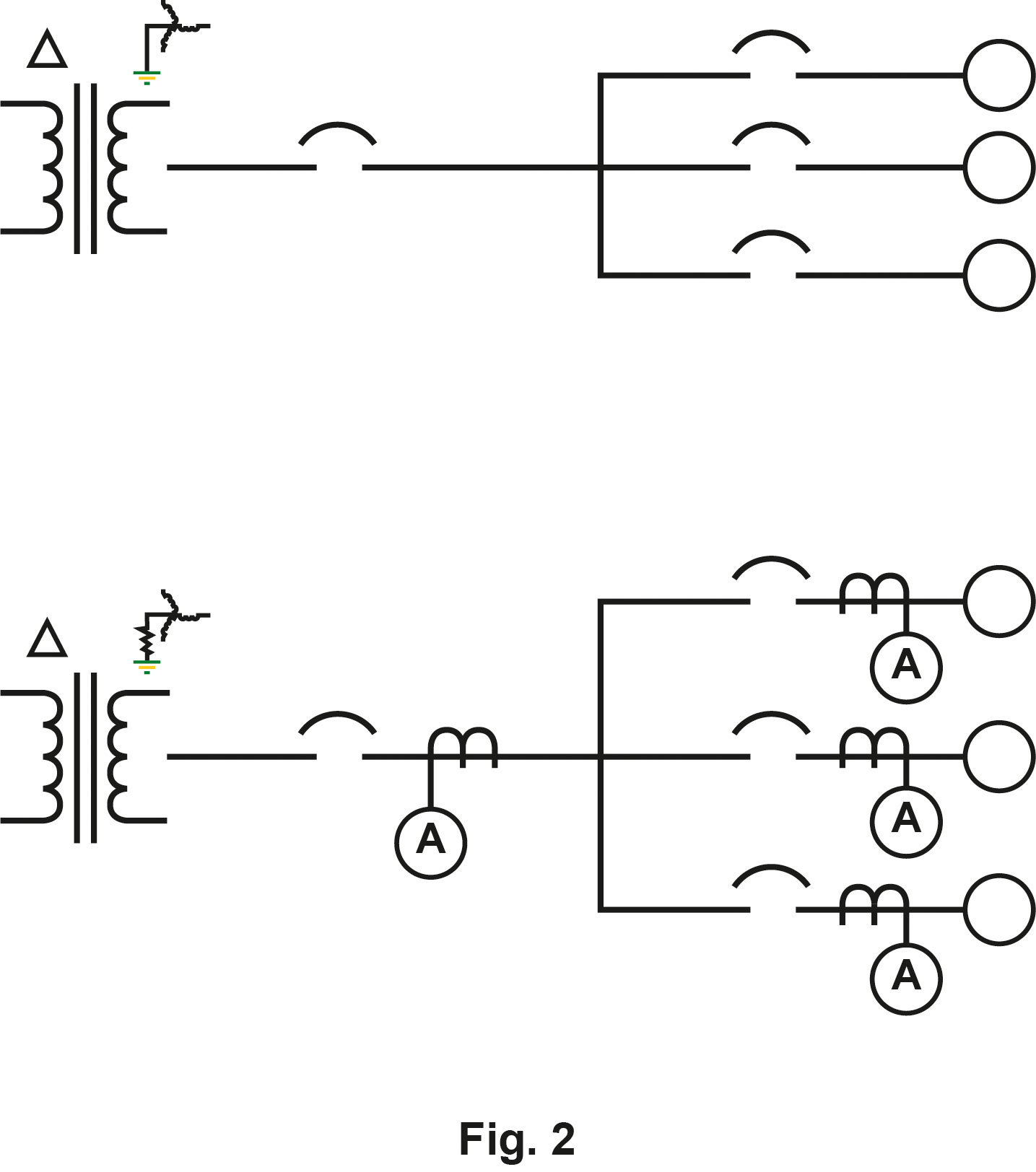 Conversion of a solidly grounded system into an HRG system