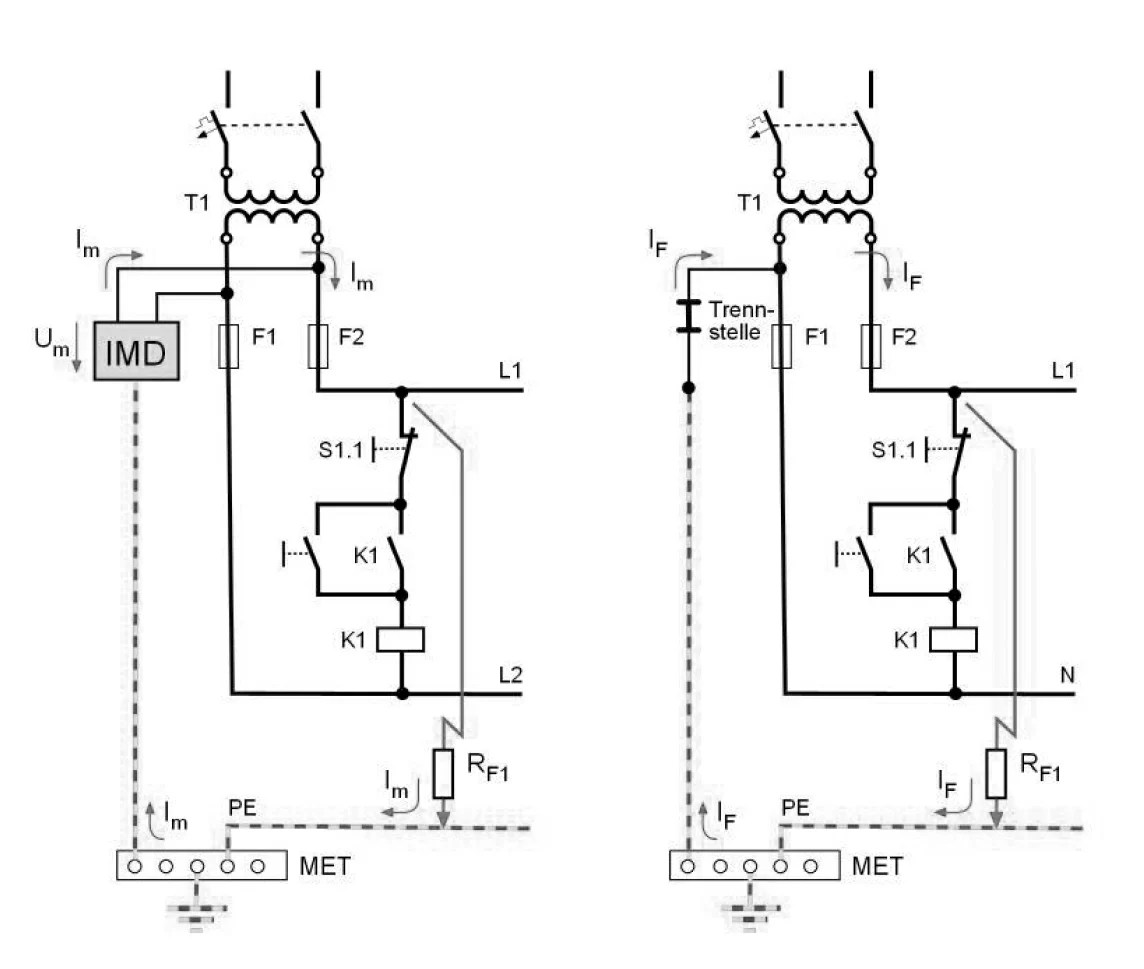 hight resolution of ungrounded control circuit it system and grounded control circuit tn system