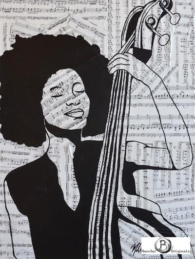 Mixed media Esperanza Spalding