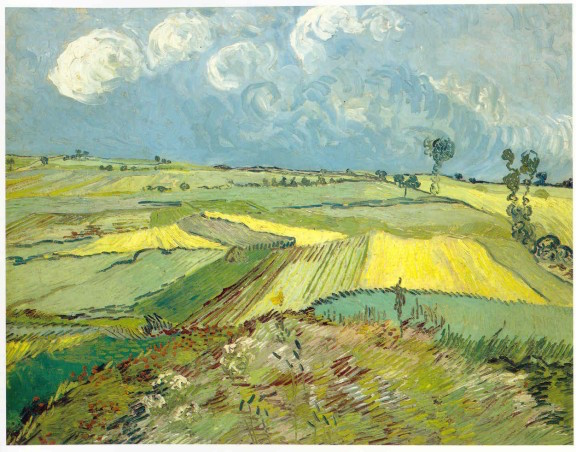 Wheat Fields at Auvers under Clouded Sky- Van Gogh