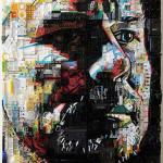 Button portraits by Zac Freeman made with collected materials