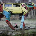 """Cow Cars"" by Miina Akkijyrkka, created with car parts"
