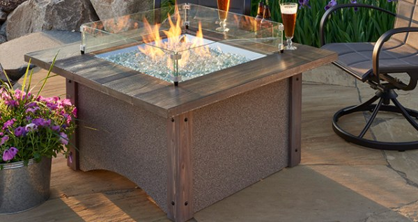 Pine Ridge 2424 Square Fire Pit Table