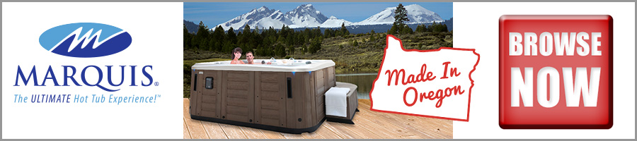 Oregon Made Marquis Hot Tubs Available at Fireside in Bend.