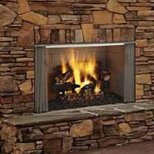 Heat & Glo Villawood All Stainless Outdoor Wood Burning Fireplace