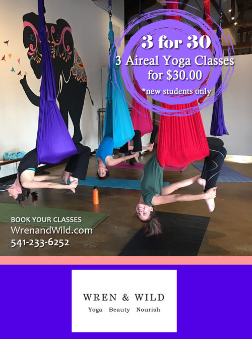 3 for 30 - 3 Aireal Yoga Classes/$30