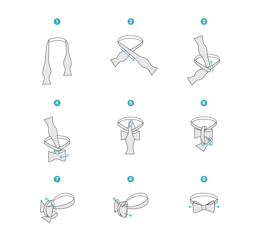 illustrated instructions on how