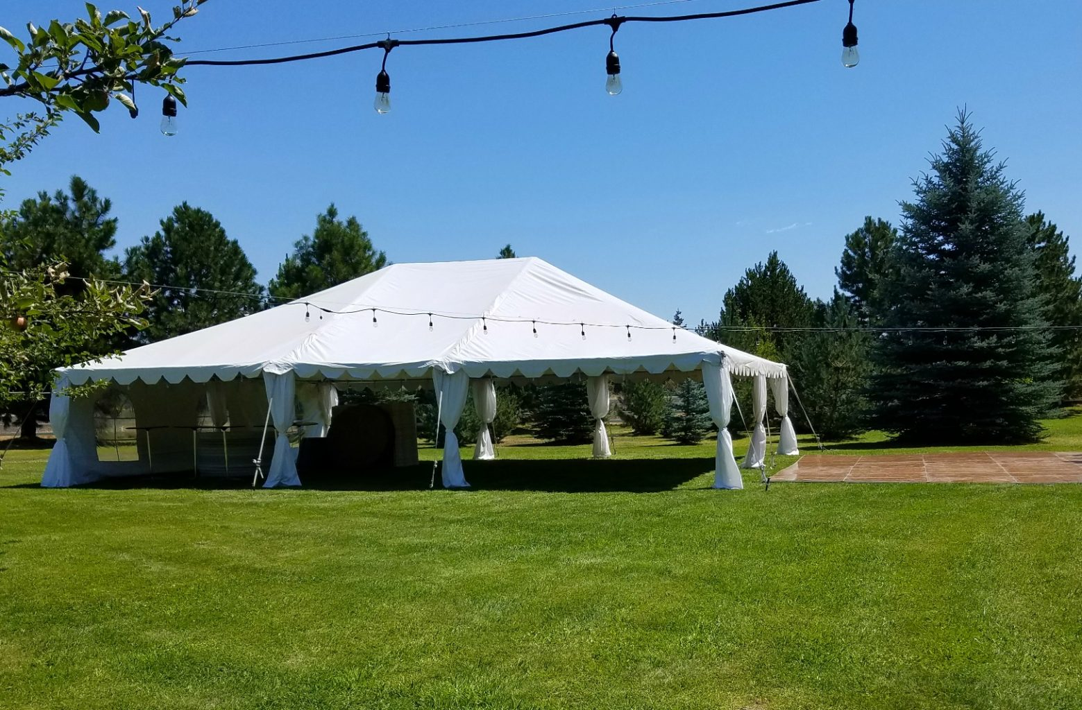 30X40-bend-tent-rental & Tent Leg Drapes - A Must Have for Formal Tent Rentals