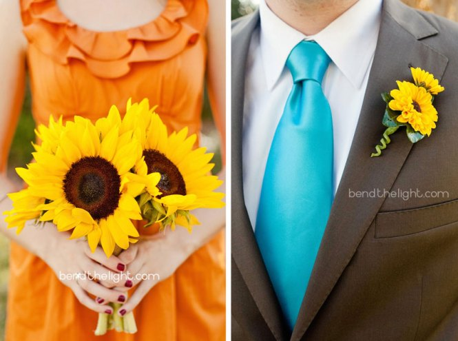 Aqua Yellow How To Use Them At Your Summer Wedding