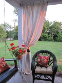Drop Cloth Curtains for my Patio - Beneath My Heart