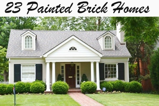 23 Painted Brick Homes