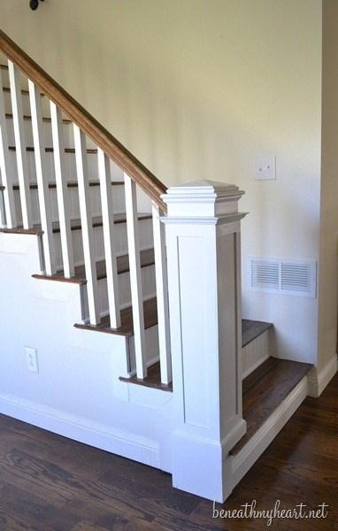 How To Build A Newel Post Beneath My Heart | Newel Post Cap Designs | White Oak | Decorative | Strong | Porch | Diy