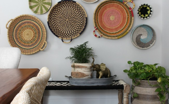 Using Baskets As Wall Decor Beneath My Heart