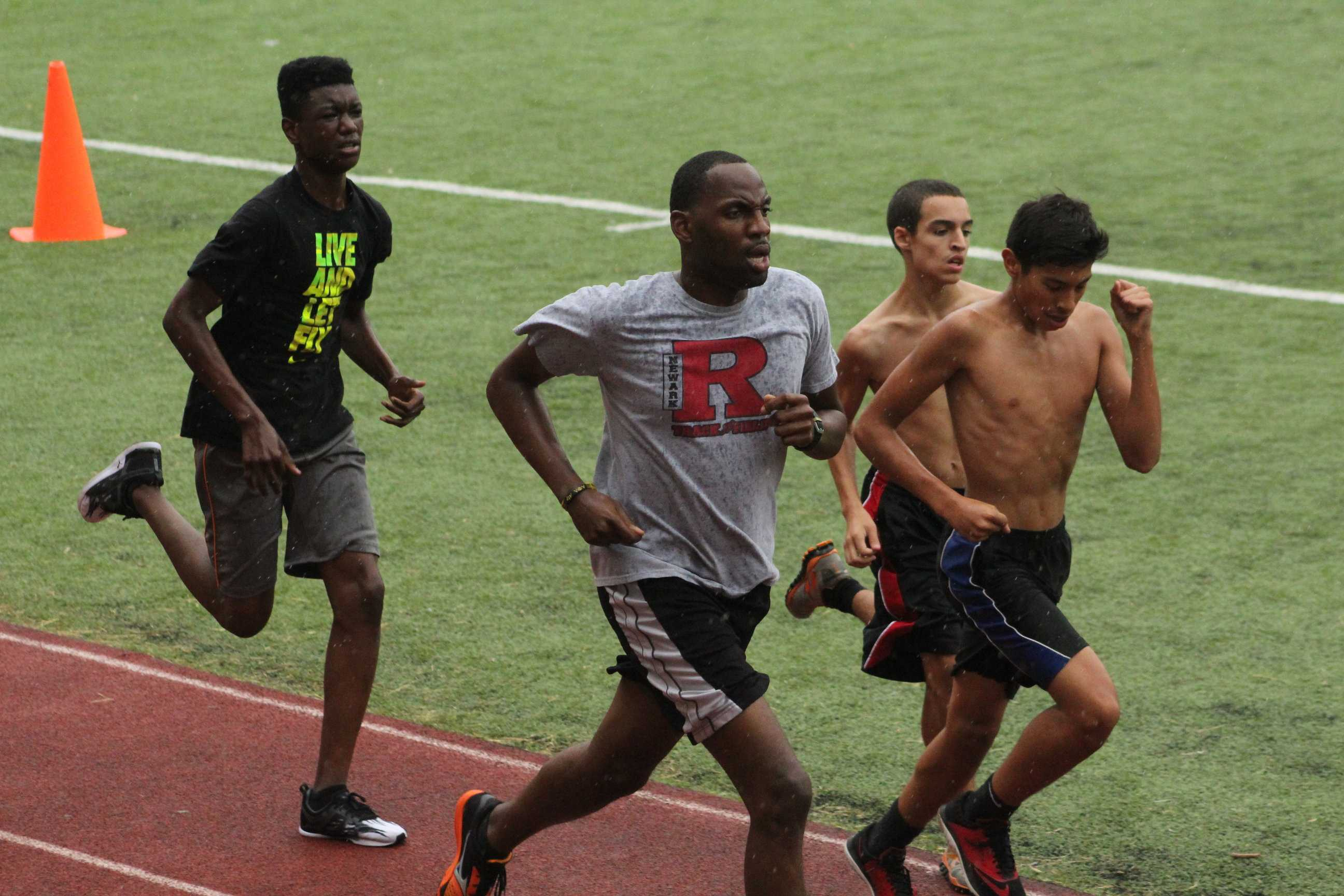 Mr. Bashir has been praised for his coaching of the the freshman corss country team.  Sometimes, he even runs with his athletes.