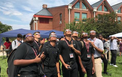 Eclipse Shines Light on St. Benedict's
