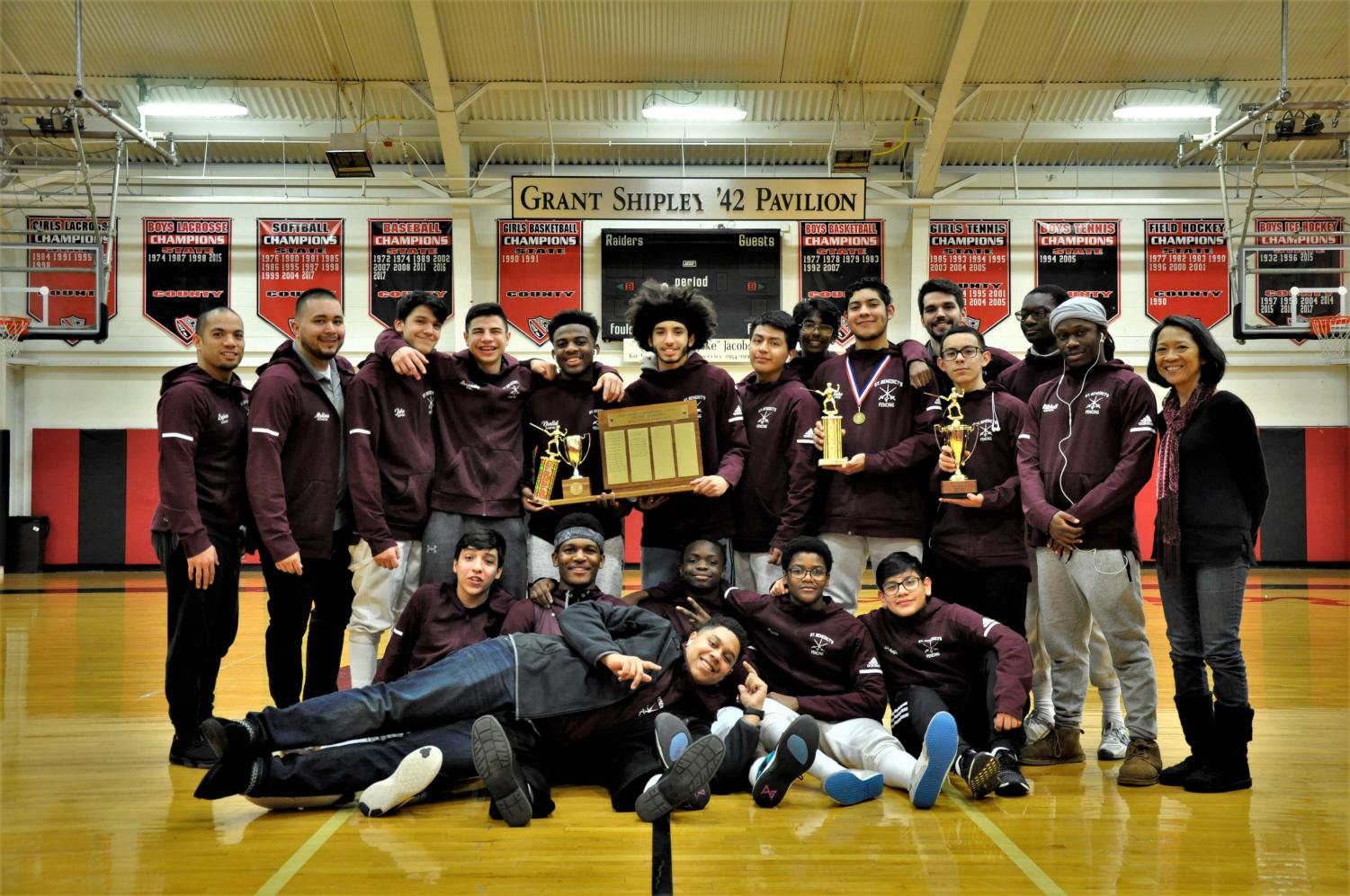 The fencing team, at last, capped its season, with a first place finish at State Preps.