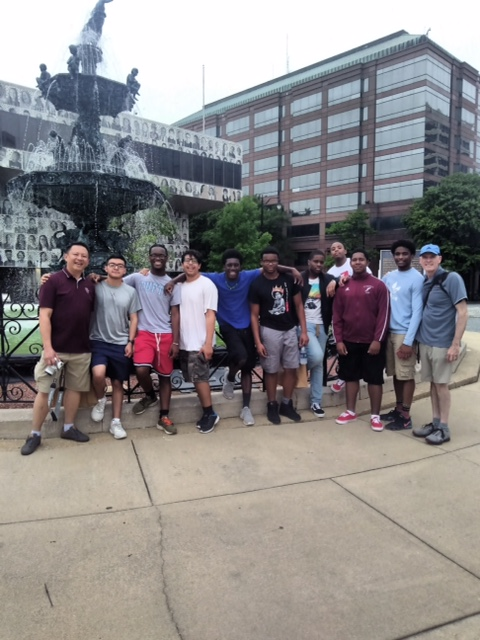 St. Benedict's teachers and students stop in Montgomery, Alabama, as part of a journey visiting sites that are milestones of the Civil Rights Movement.
