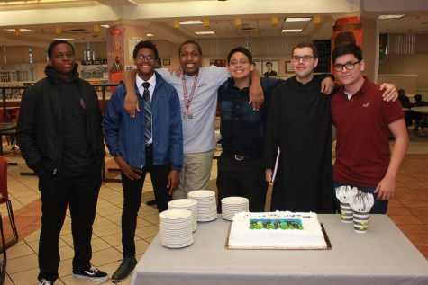 Seniors Celebrate Fr. Edwin's Birthday