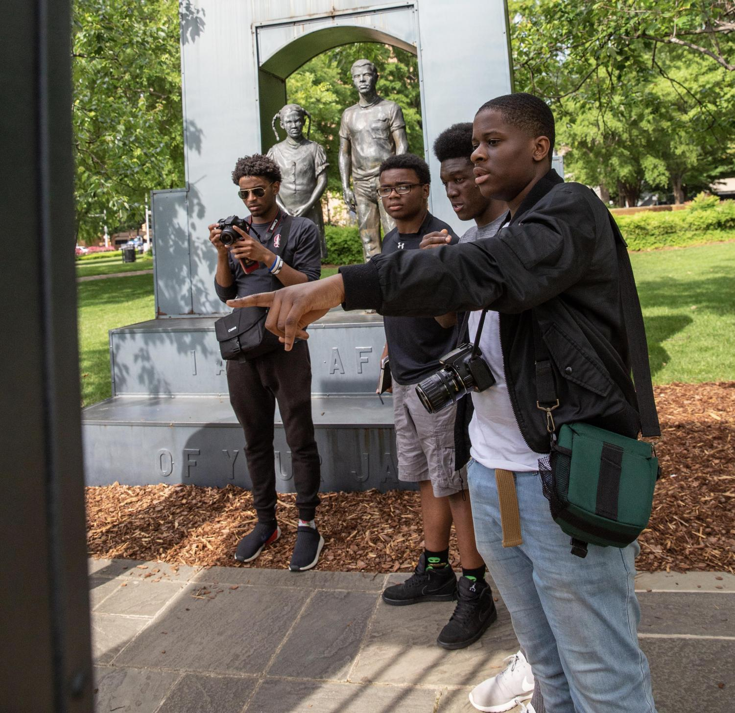 During a visit to the South, SBP students toured iconic sites in the Civil Rights movement, including statues in Kelly Ingram Park.