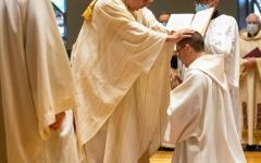 Pursuing his lifelong quest to become a Catholic priest, Br. Asiel Rodriguez was ordained a deacon on Saturday by Bishop Manuel Cruz.