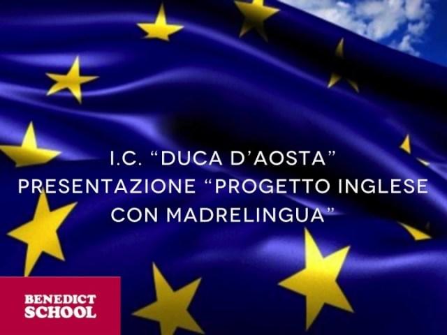 Presentazione progetto 'inglese con madrelingua'
