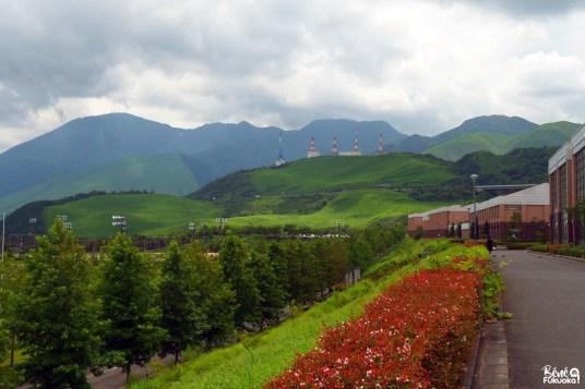 Vue sur Beppu depuis l'université APU