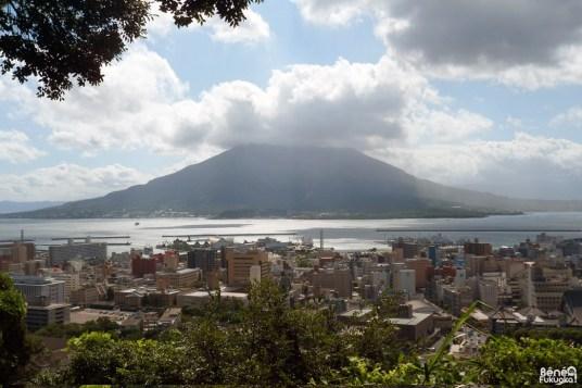 Sakurajima depuis Shiroyama, Kagoshima