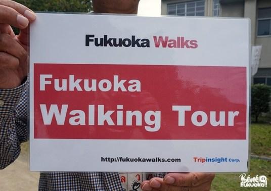 Pancarte du guide Fukuoka Walks