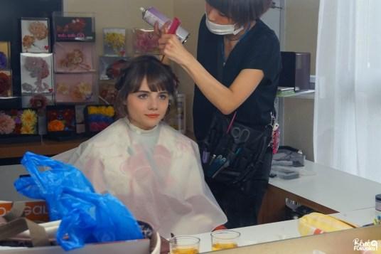 Ma séance photo en kimono : la coiffure