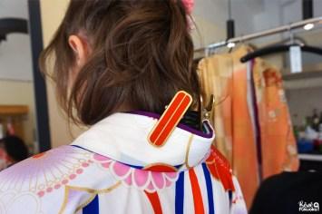 Ma séance photo en kimono : l'habillage