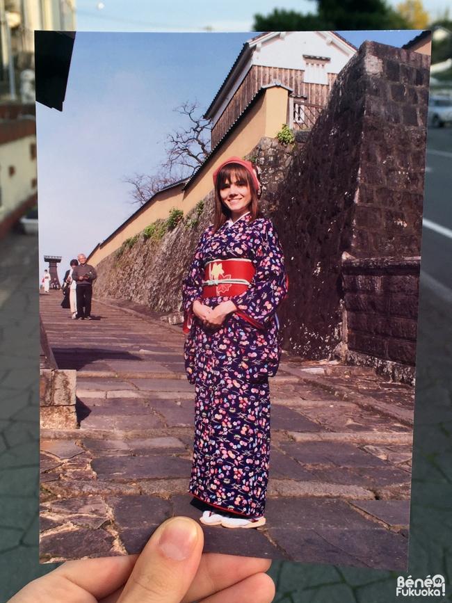 Photo en kimono à Kitsuki (préfecture d'Ôita) par un photographe professionnel