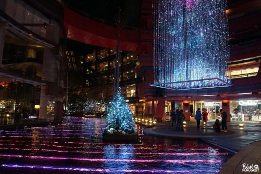 Les illuminations du centre commercial Canal City, Fukuoka