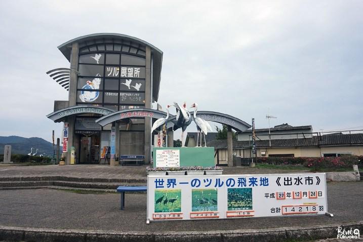 L'observatoire des grues à Izumi, Kagoshima