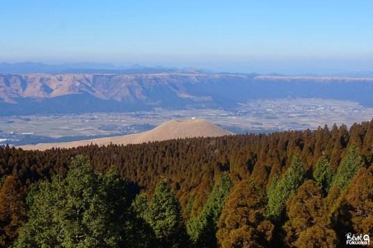 Mont Komezuka depuis l'observatoire, mont Aso, Kumamoto