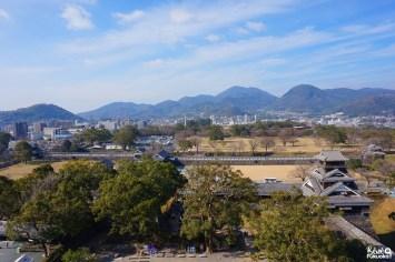Vue depuis le donjon du château de Kumamoto