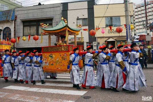 Parade du festival des lanternes de Nagasaki