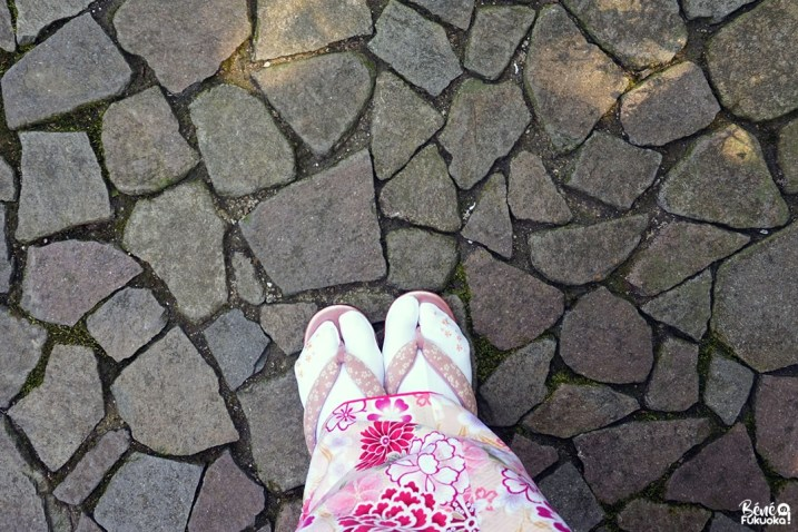 Sandales rose kimono