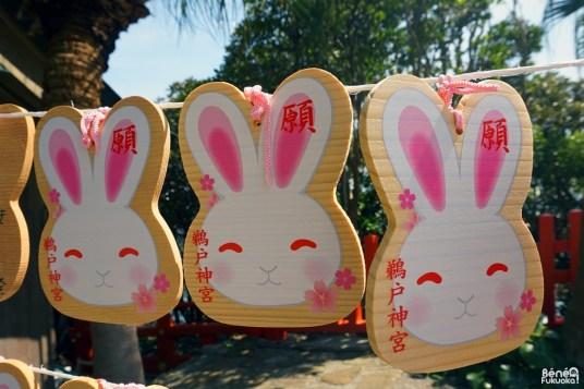 Tablettes ema en forme de lapin, sanctuaire Udo, Miyazaki