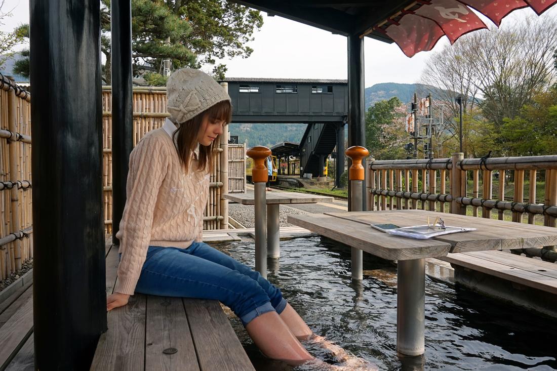 Ashiyu (onsen pour les pieds), Yufuin, Oita