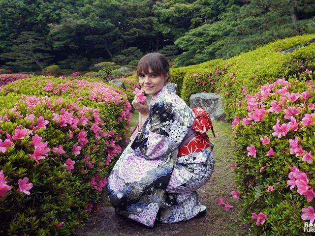 Fukuoka Kimono Walk #5 – Jardin japonais Ôhori