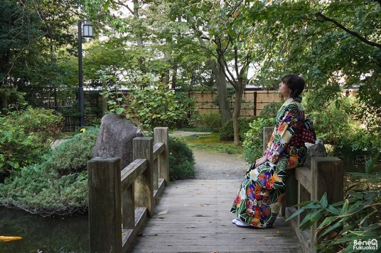 Fukuoka Kimono Walk, Jardin Rakusuien